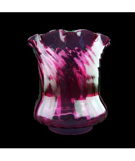 Superior Cranberry Oil Lamp Tulip with 100mm Base
