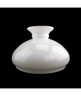 245mm Base Aladdin Lamp Vesta shade - White