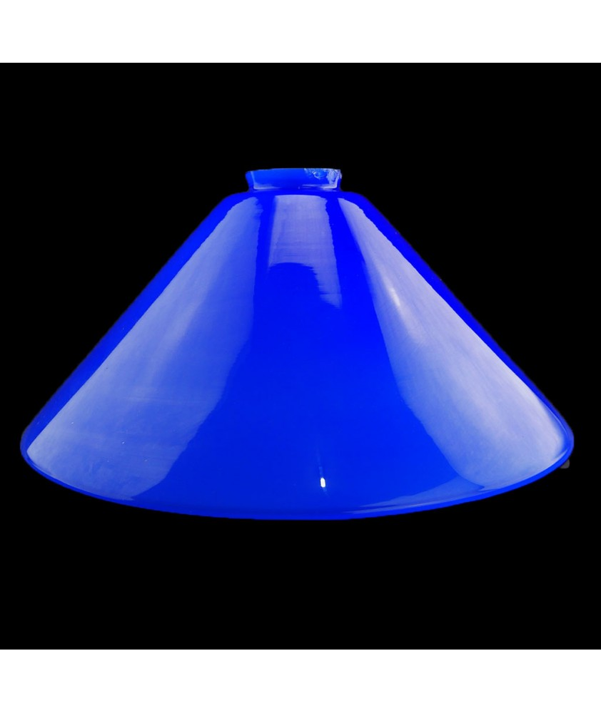295mm Cobalt Blue Coolie Light Shades with 57mm Fitter Neck