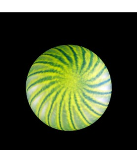 Green Swirled Globe with 67mm Fitter Hole