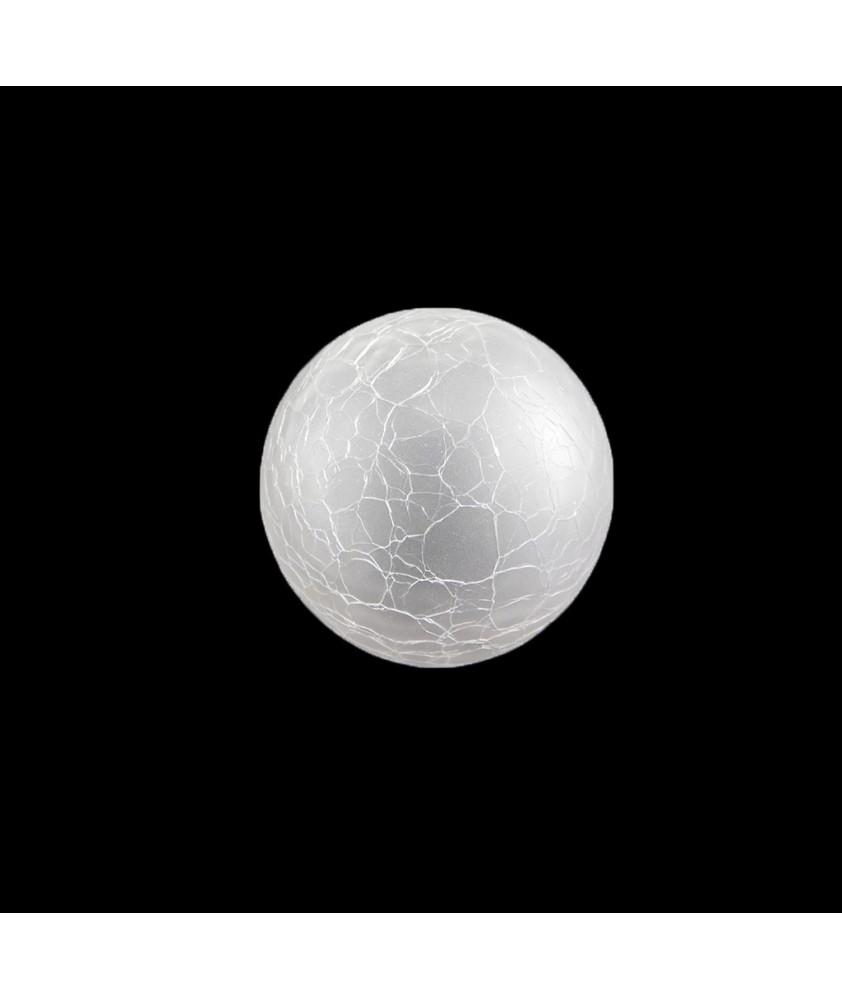 100mm Art Deco Crackle Globe Shade With 40-42mm Fitter Hole (Clear or Frosted)