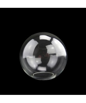 150mm Clear Globe Light shade with 65mm Fitter Hole (Clear or Frosted)