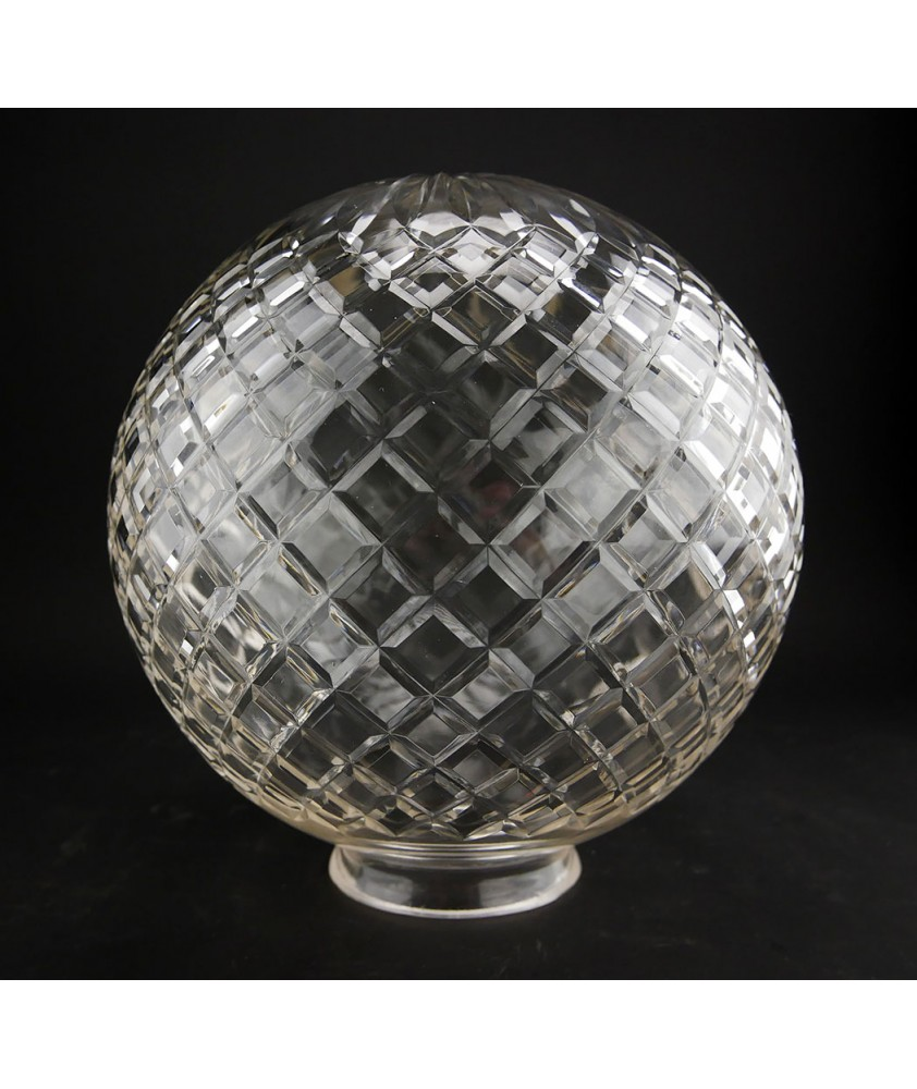 200mm Crystal Cut Globe with 75mm Fitter Neck