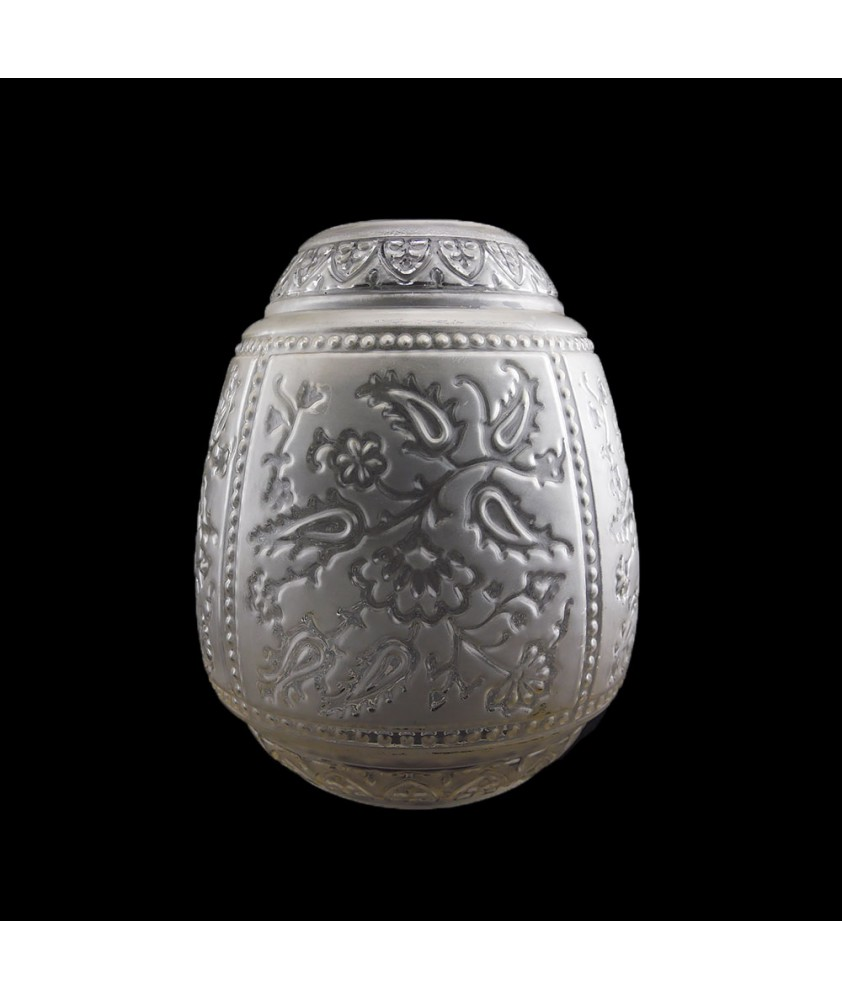 Embossed oil lamp shade with 200mm Base