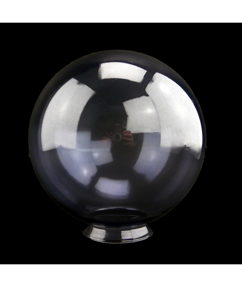 200mm Light Smoked Glass Globe Light Shade with 80mm Neck