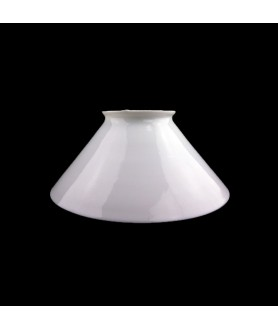 Opal Coolie Oil Lamp Shade with 205mm Base