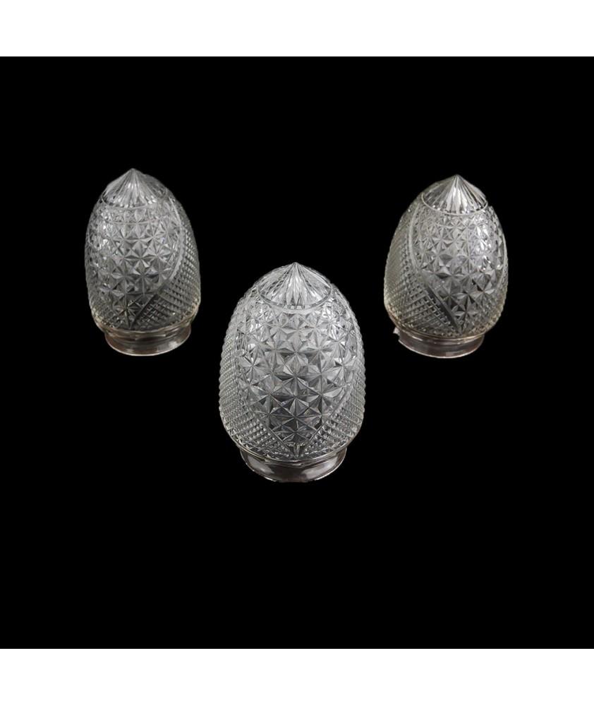 3 Art Nouveau Acorns with 85mm Fitter Necks