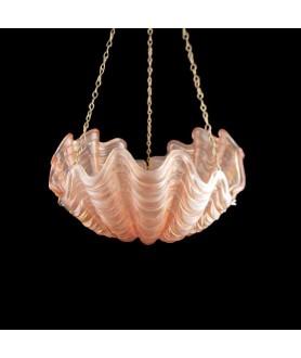 Art Deco Hanging Pink Shell Light