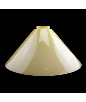 245mm Cream Coolies Light Shades with 57mm Fitter Neck