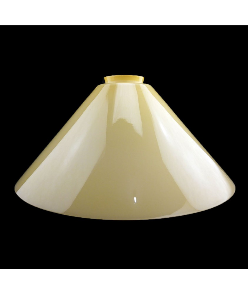 295mm Cream Coolies Light Shades with 57mm Fitter Neck