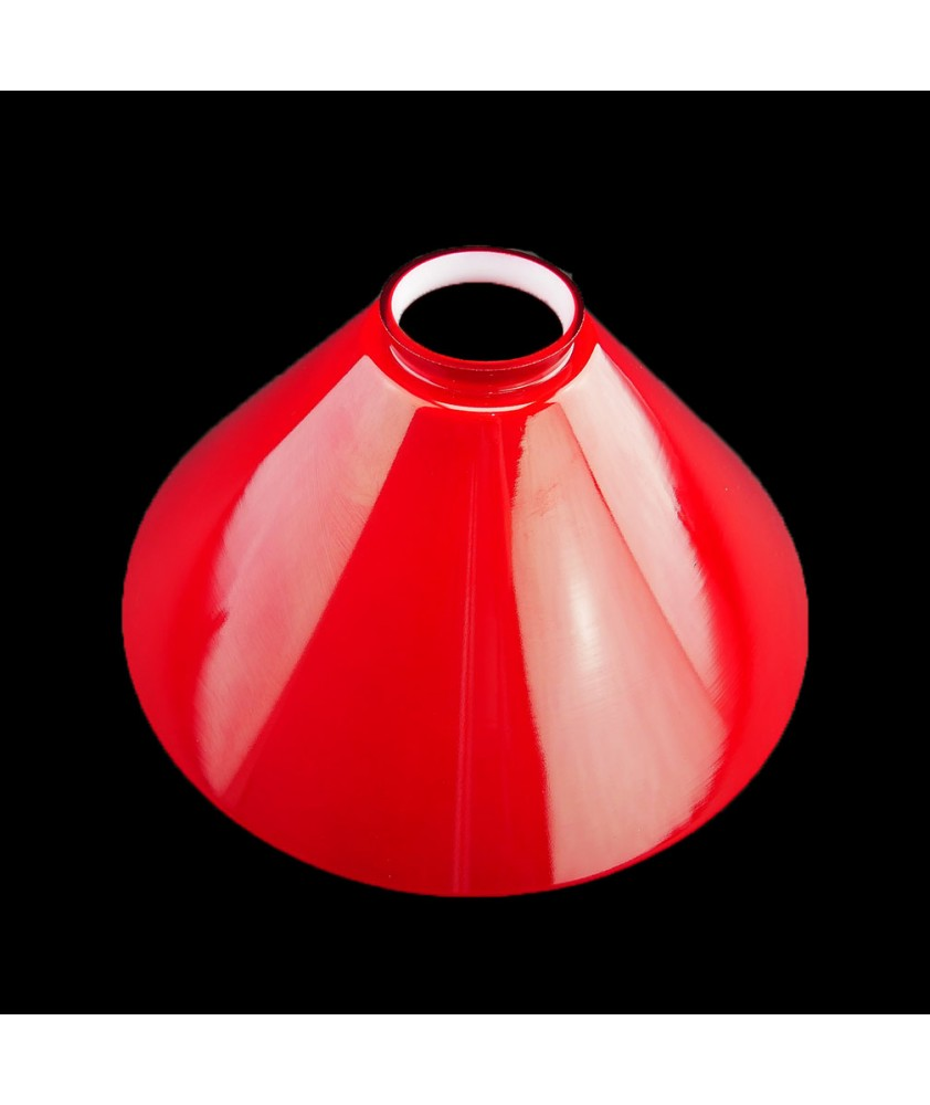 245mm Red Coolie Shade with 57mm Fitter Neck