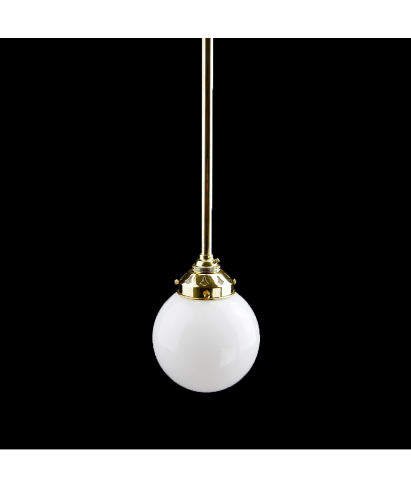 125mm Complete Opal Globe Pendant Rod