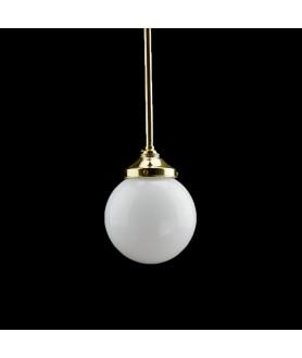 200mm Complete Opal Globe Pendant Rod