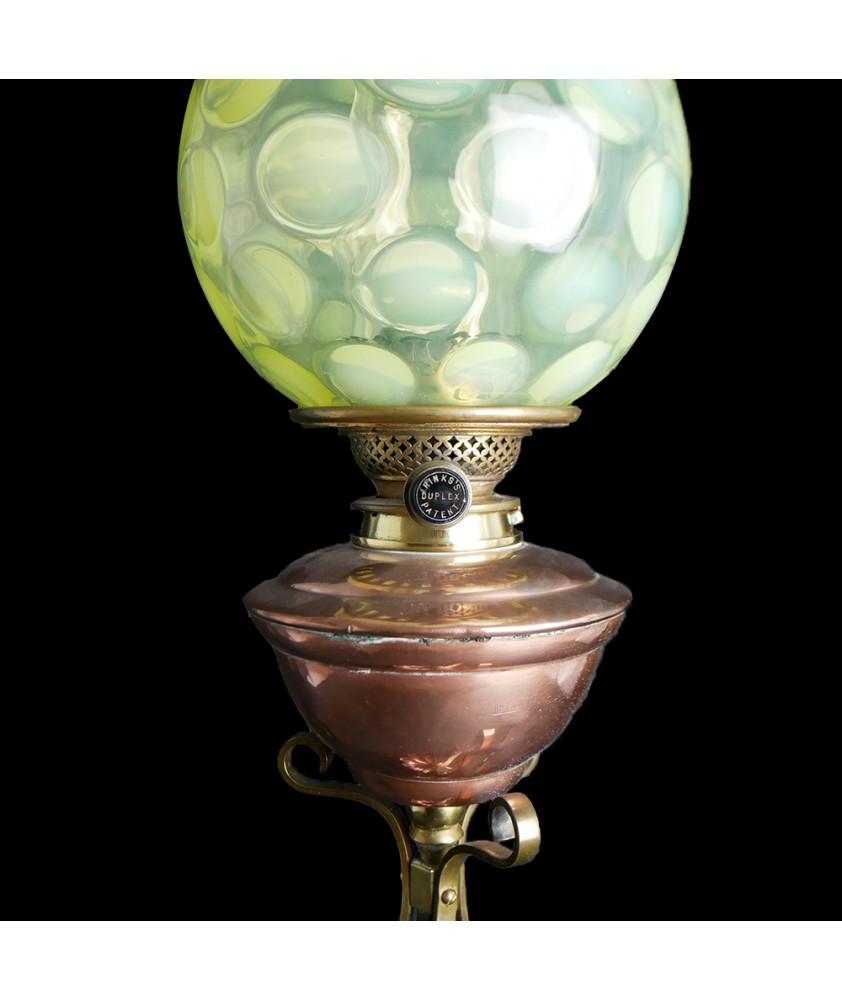 W.A.S. Benson Copper Oil Lamp
