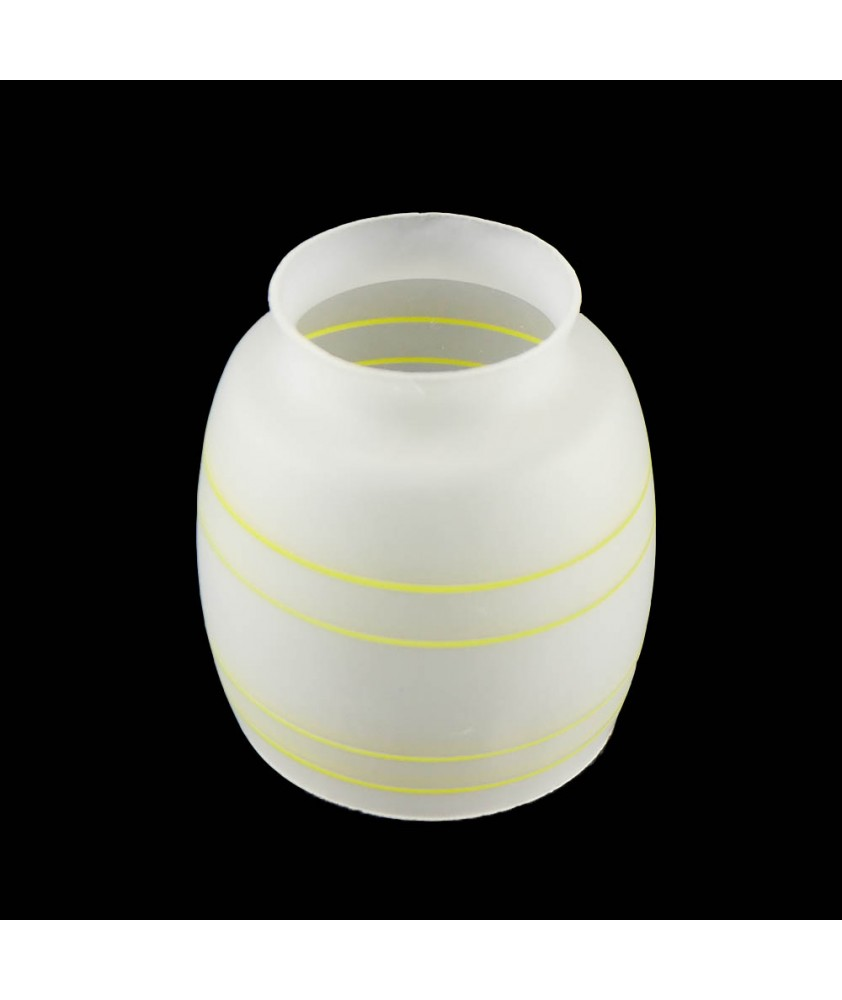 Gas Shade etched with yellow band and 46mm Fitter Neck