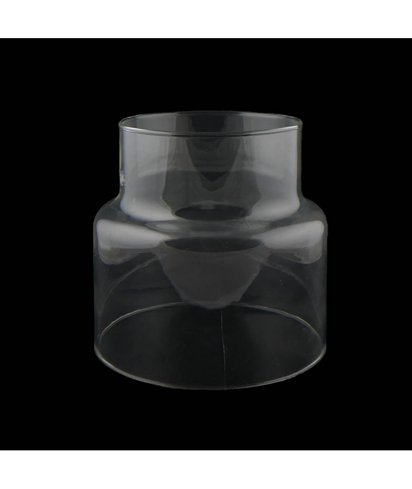 Clear Gas Light Shade with 90mm Fitter Neck