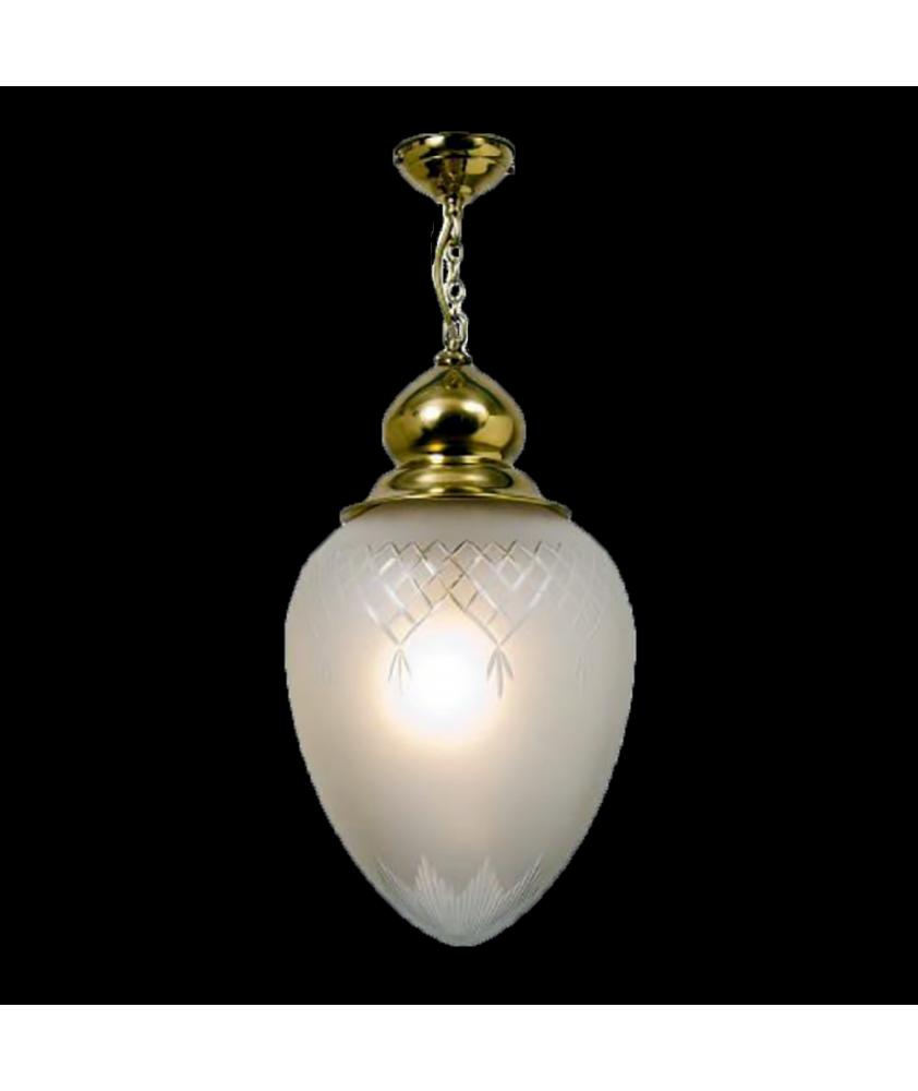 Large Satin Acorn Pendant Light
