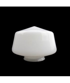 200mm Opal  School House Light  Shade with 100mm Fitter Neck