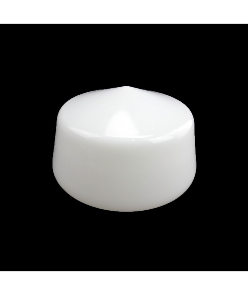 200mm Opal  School House Ceiling Light Shade with 100mm Fitter Neck