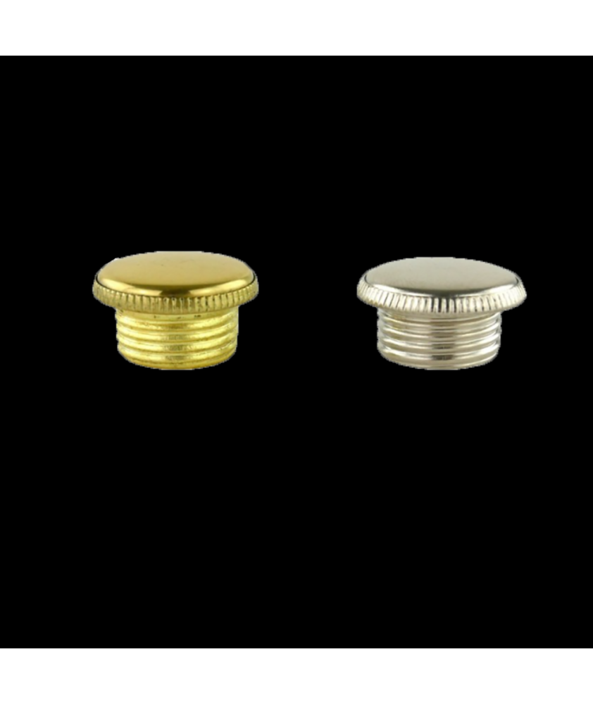 Aladdin Lamp Filler Cap  in Brass or Chrome
