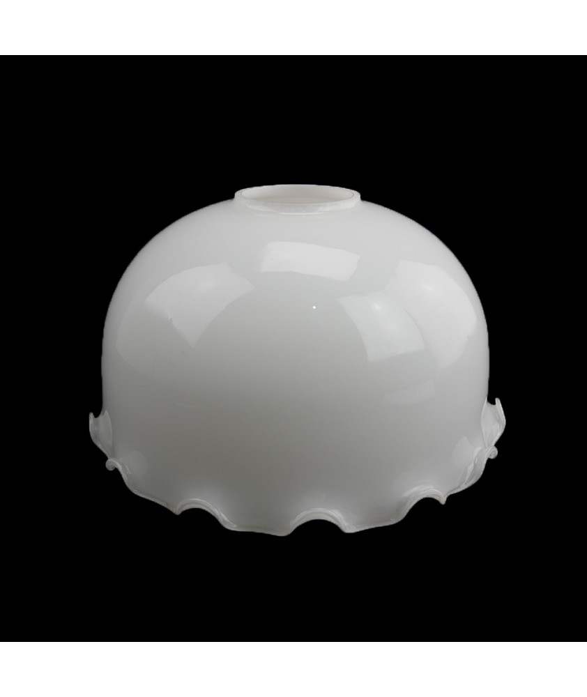 320mm Frilled Opal Ceiling Light Shade with 77mm Fitter Hole