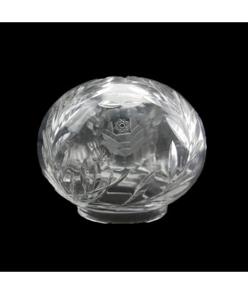 Crystal Glass Mushroom Shade with 110mm Fitter Neck