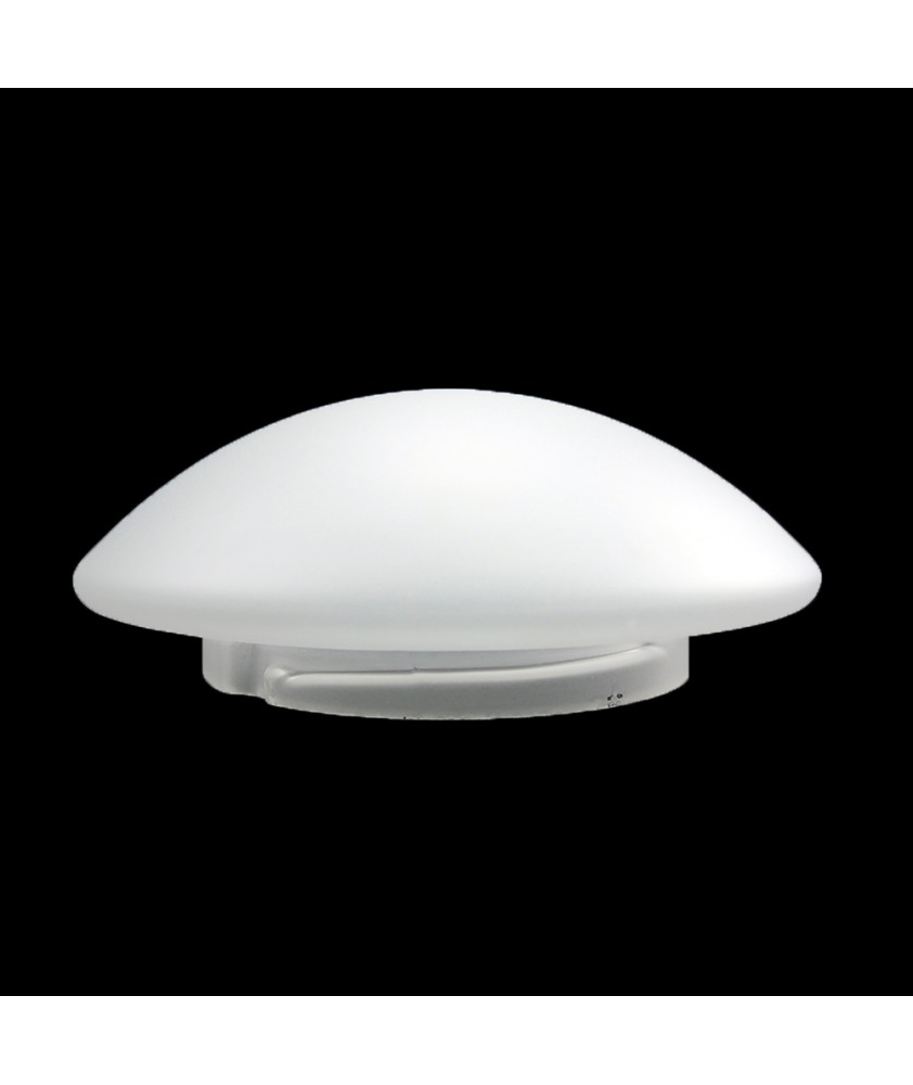 200mm Frosted Pan Drop Ceiling Light Shade with 135mm Fitter Neck