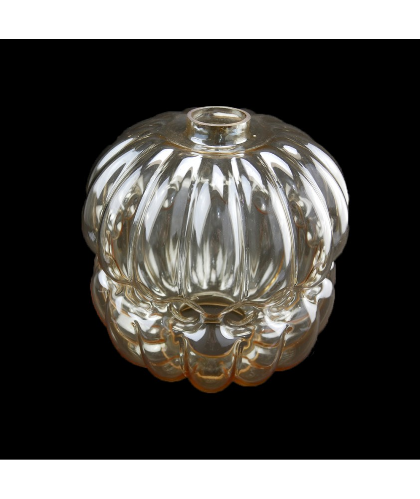 Amber Tinted Ceiling Light Shade with 124mm Fitter Size