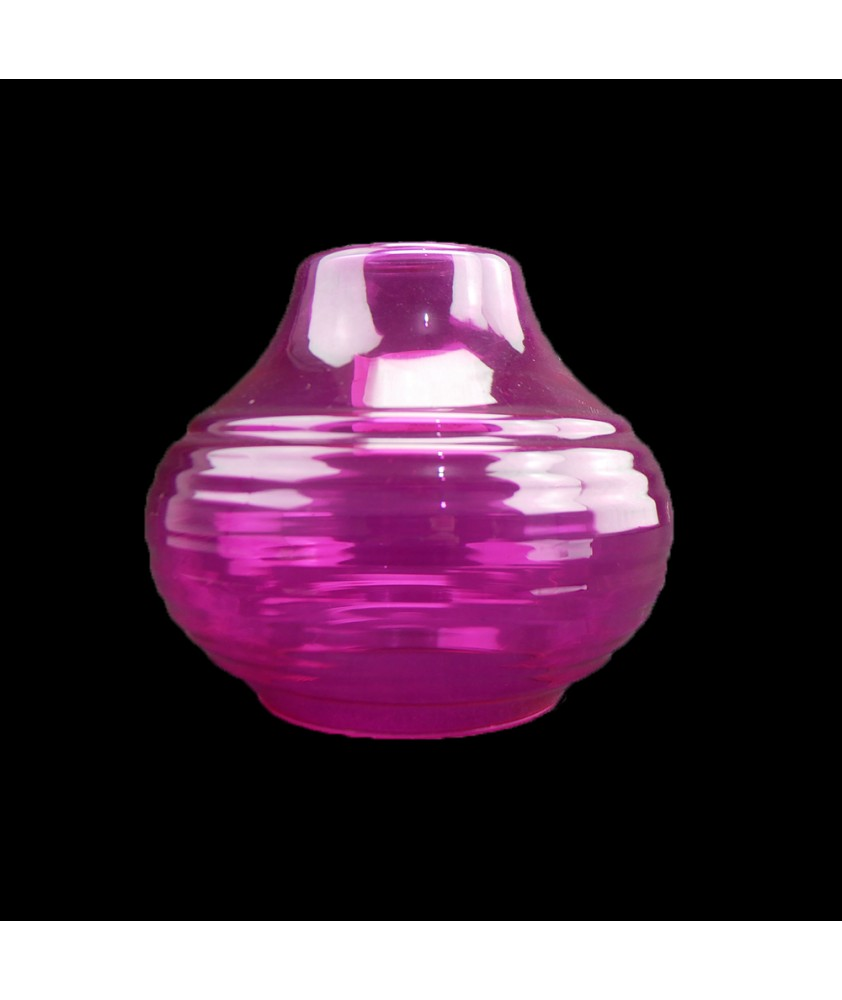 160mm Pink Art Deco Ceiling Shade with 40mm Fitter Hole