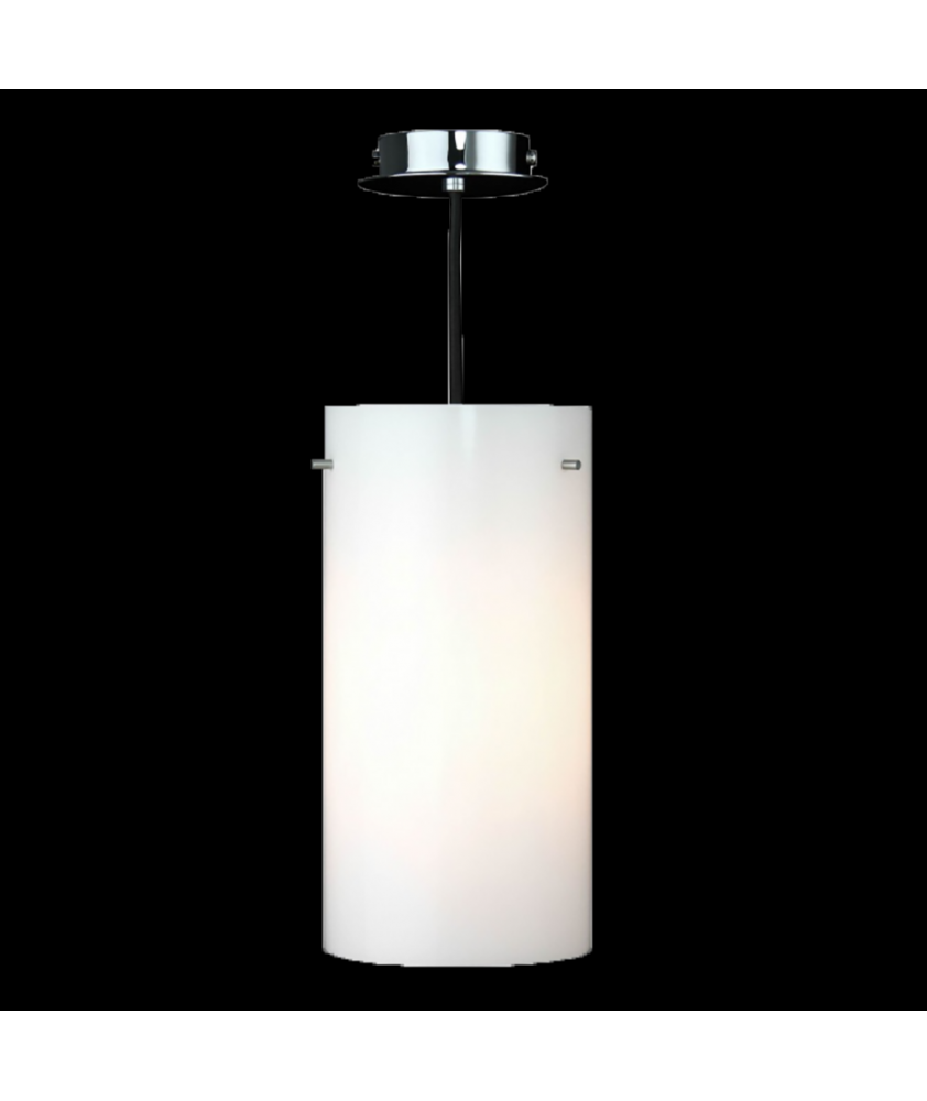 Opal Cylinder Pendant Light with Spider Fitting