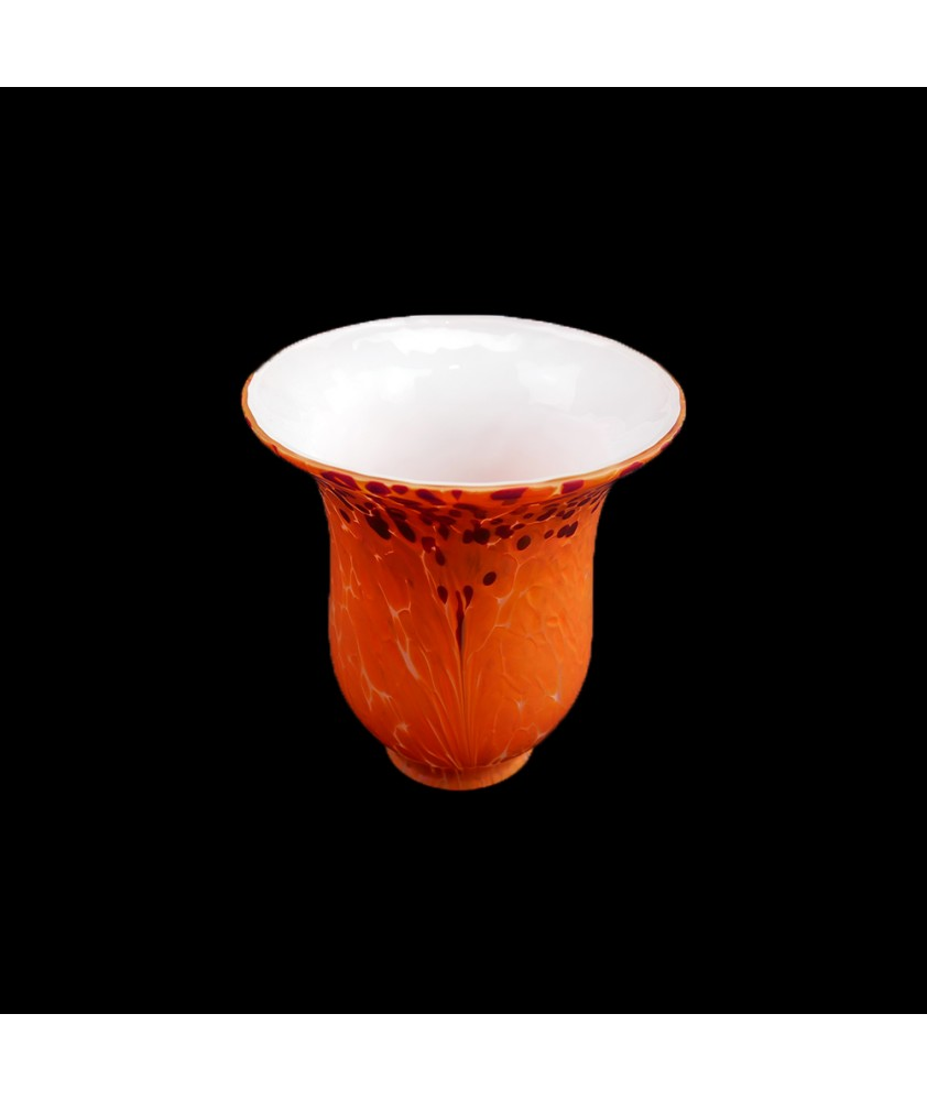 Orange Patterned Tulip Light Shade with 50mm Fitter Neck