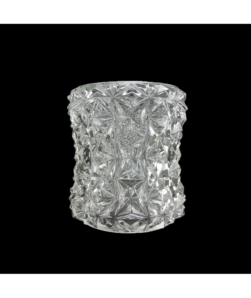 110mm Retro Crystal Cut Ceiling Light Shade with 30mm Fitter Hole