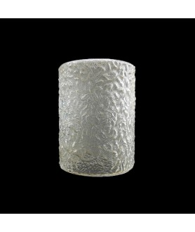 140mm Textured Glass Ceiling Light Shade with 30mm Fitter Hole
