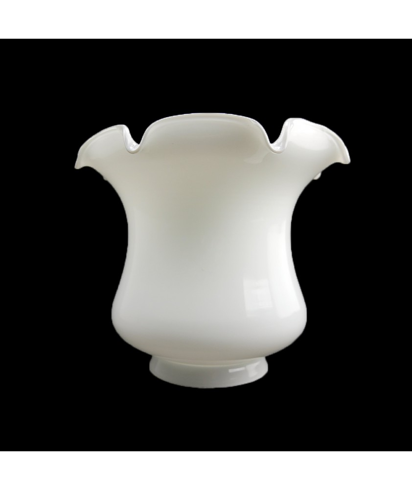 Opal Tulip Oil/Ceiling Lamp Shade with 100mm Base