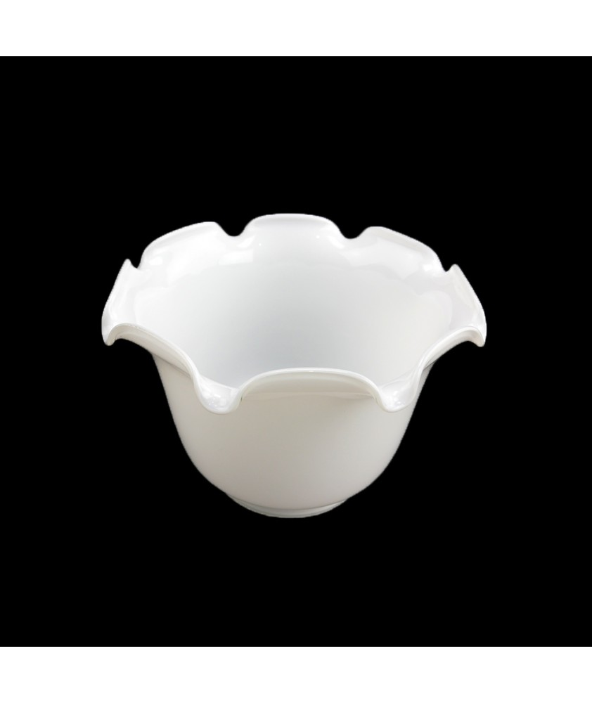 Opal White Oil Lamp Shade with 100mm Base
