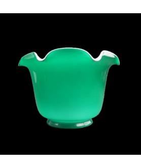 Green with Opal Internal Duplex Oil Lamp Shade