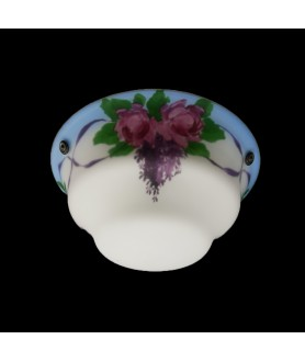 Hanging Floral Patterned Bowl Shade with fittings