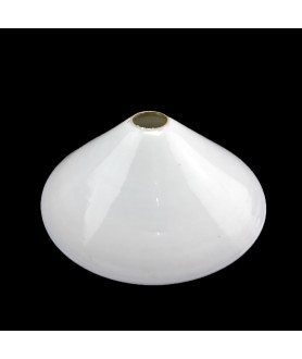 Original Vintage  232mm Opaline Coolie Light Shade with 28mm Fitter Hole
