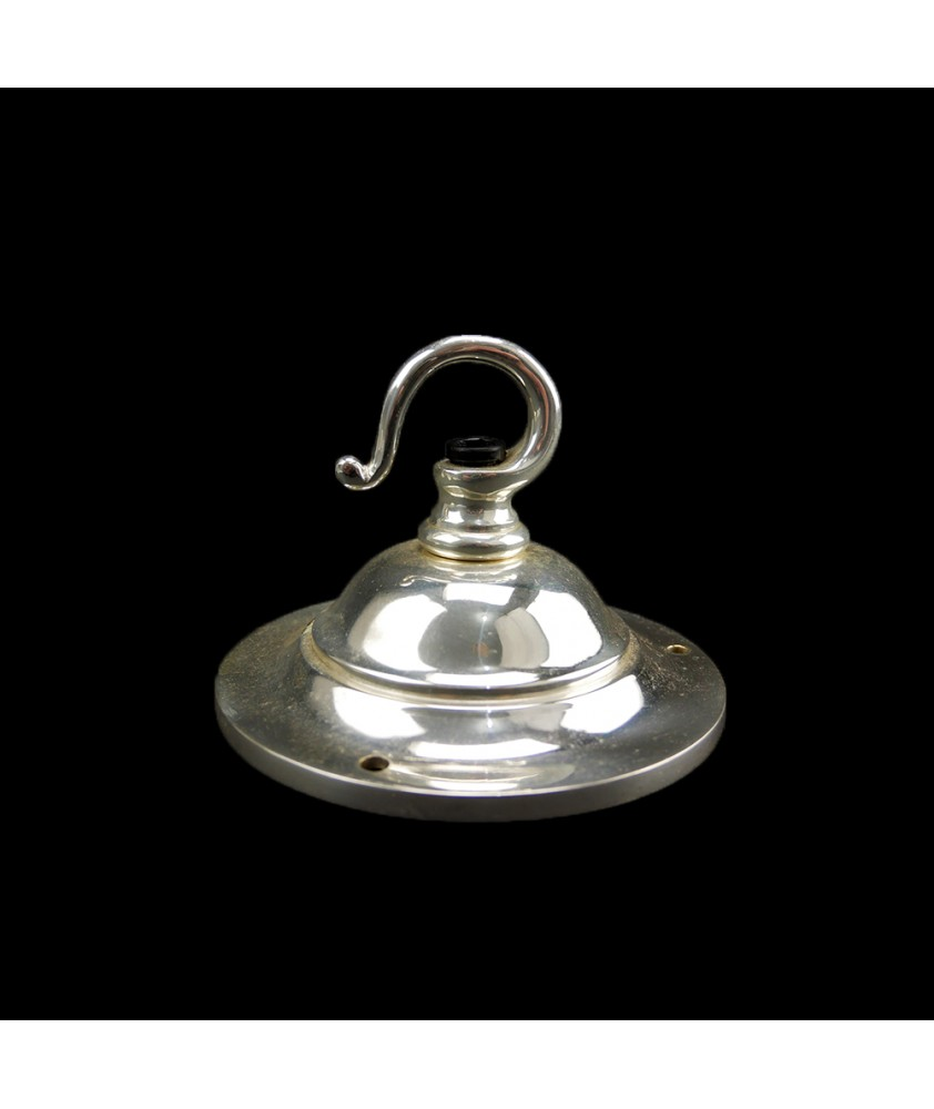 100mm Chrome Ceiling Plate and Hook