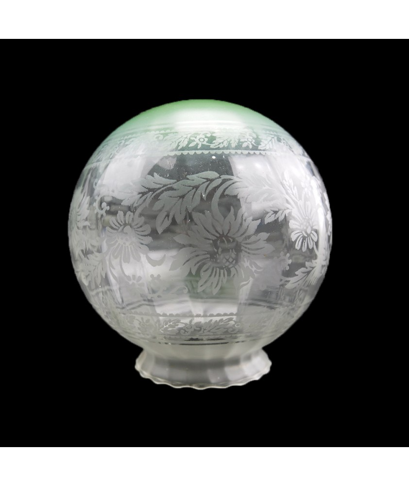 150mm Green Tipped Christopher Wray Globe Shade with 80mm Fitter Neck