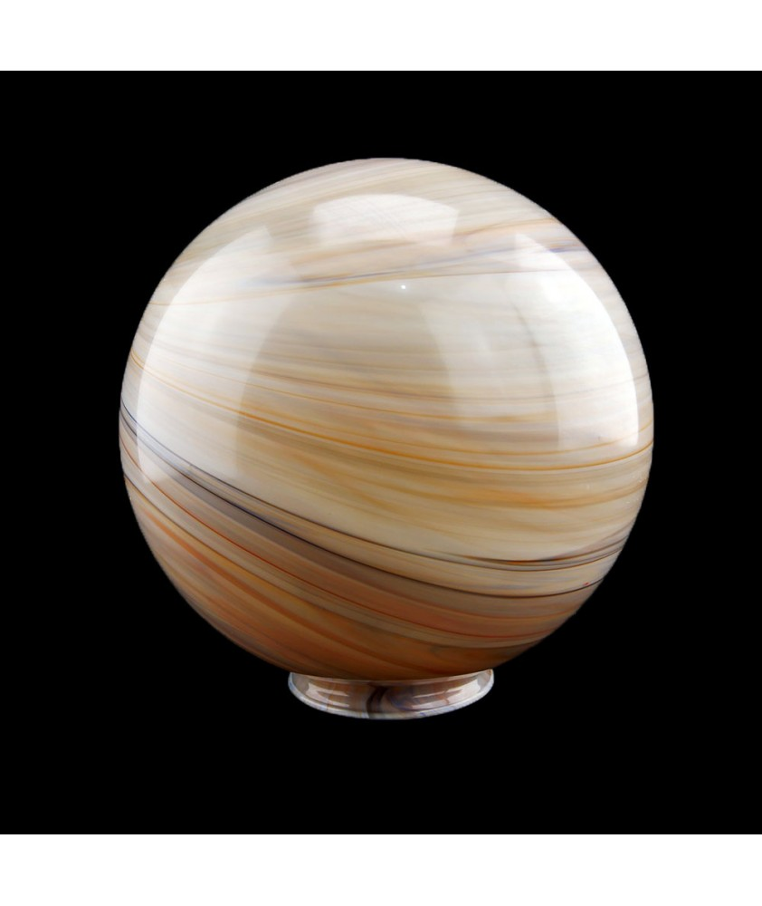 250mm Christopher Wray Marbled Globe with 100mm Fitter Neck