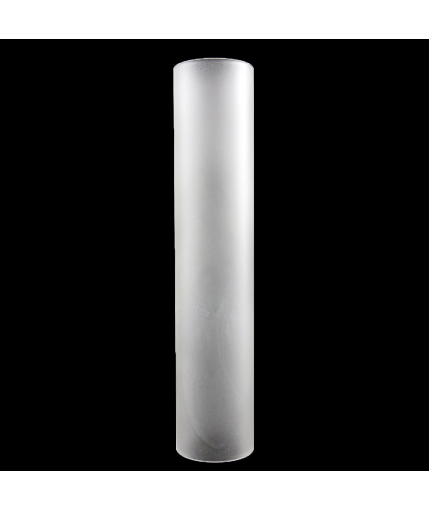 280mm Clear Glass Cylinder Glass Shade with 37mm Fitter Size
