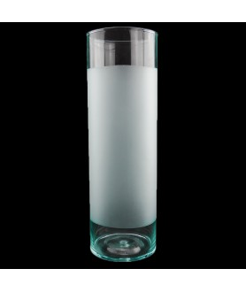 400mm Clear Cylinder with a half frosted body and 13mm Fitter Size