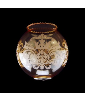 Amber Chandelier Light Shade with Floral Motif with 50mm Fitter Hole