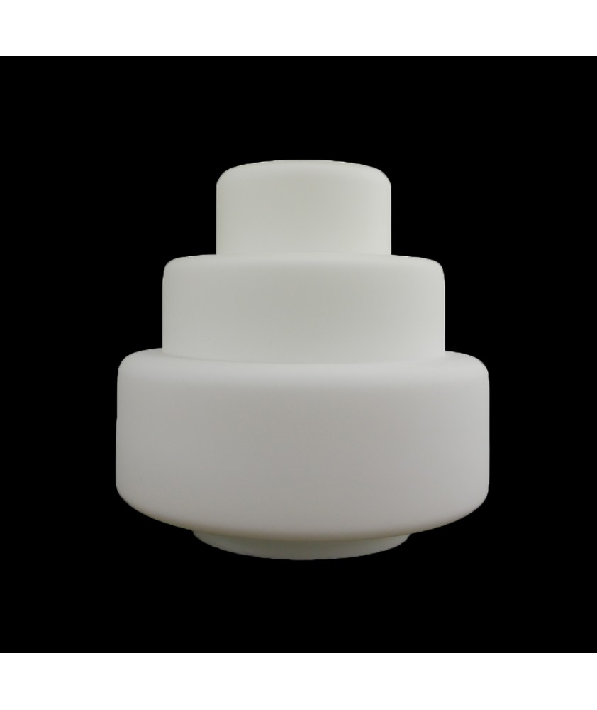 320mm Frosted Art Deco Wedding Cake Shade with 150mm Fitter Hole