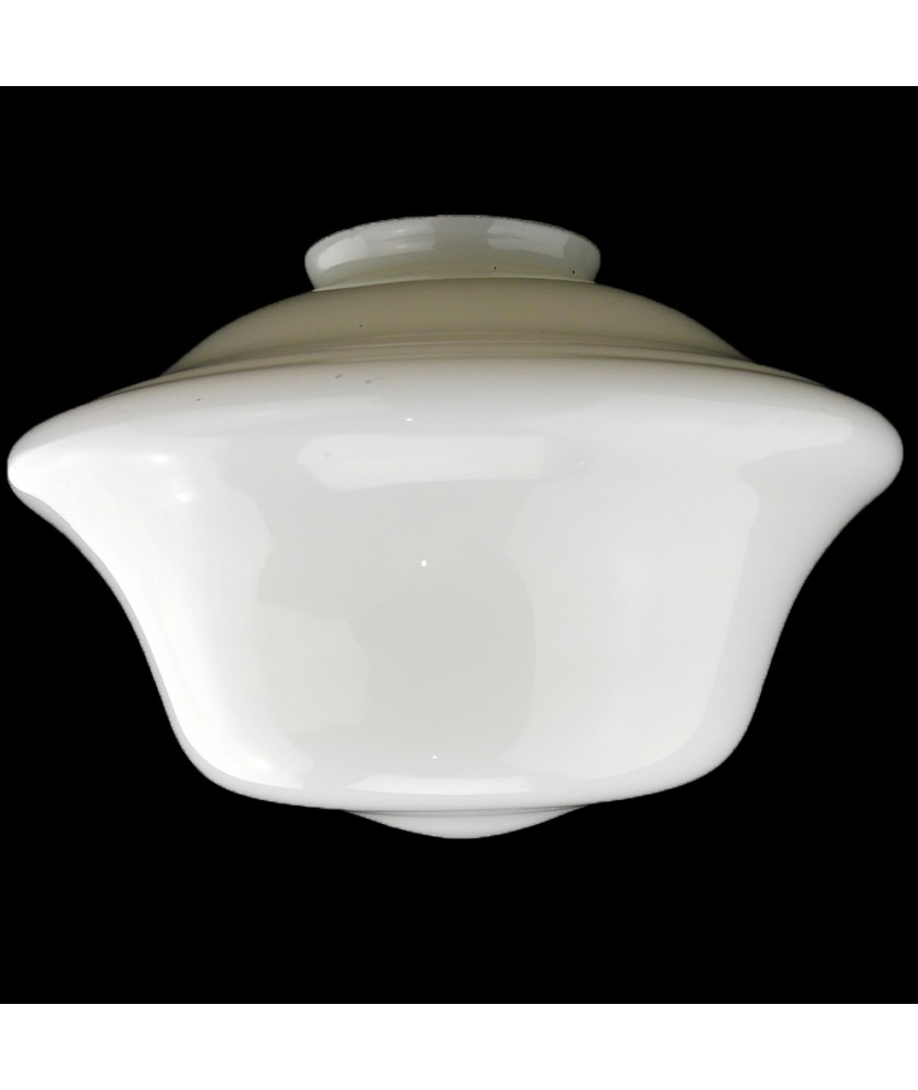 300mm Opal  School House Light  Shade with 100mm Fitter Neck