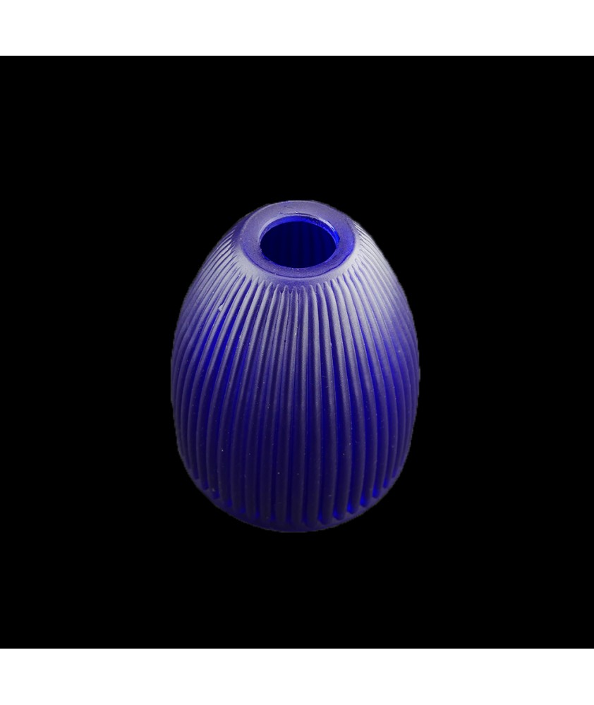140mm Blue Prismatic Light Shade with 30mm Fitter Hole