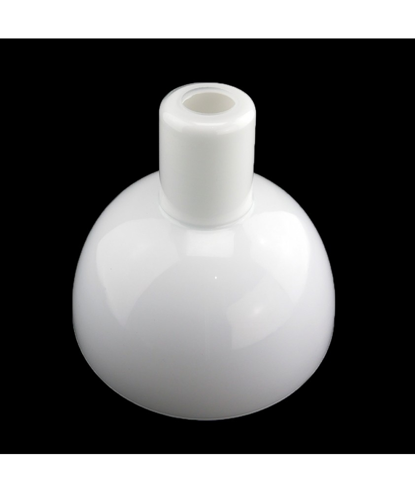 220mm Long Neck Opal Diffuser Ceiling Light Shade with 28mm Opening