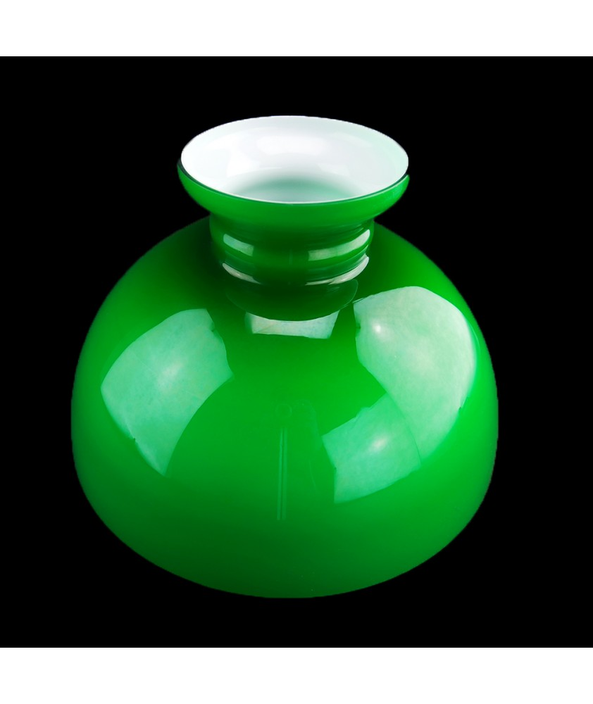 292mm Base Green Oil Lamp Dome