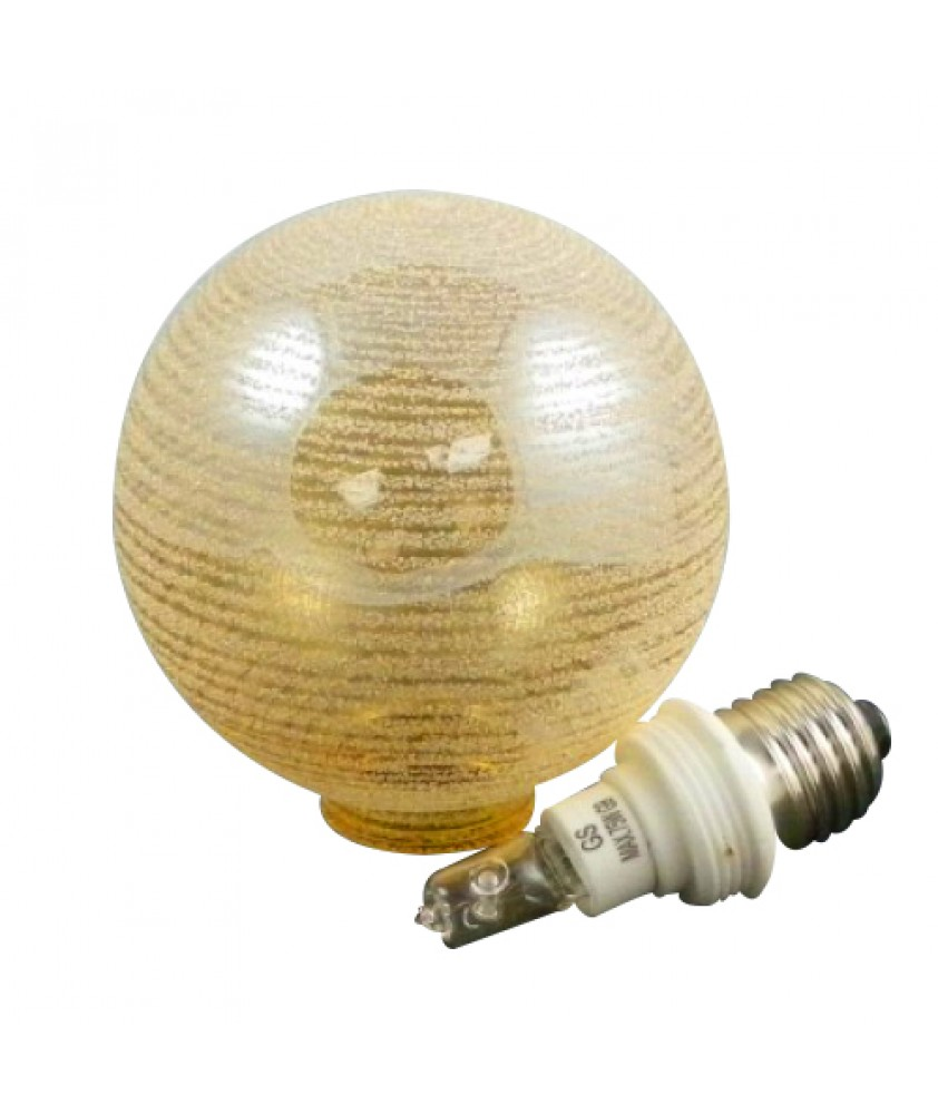 100mm Small Cognac Globe With Bulb